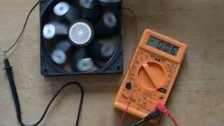 Energie libre (éléctricité infinie/aimant). Voltage réel en sortie d'un ventilo de PC