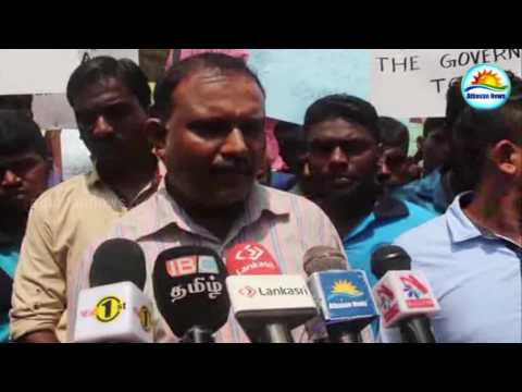 Demonstration in Jaffna to support Upcountry workers