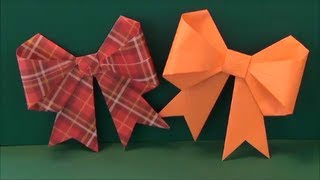 Origami Bow Tutorial  Paper Kawaii