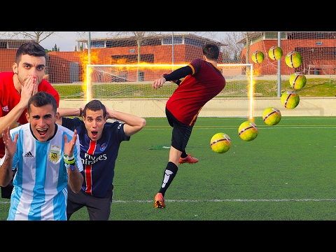 VOLEA IMPOSIBLE CHALLENGE CON YOUTUBERS!! IMPOSSIBLE FOOTBALL CHALLENGES