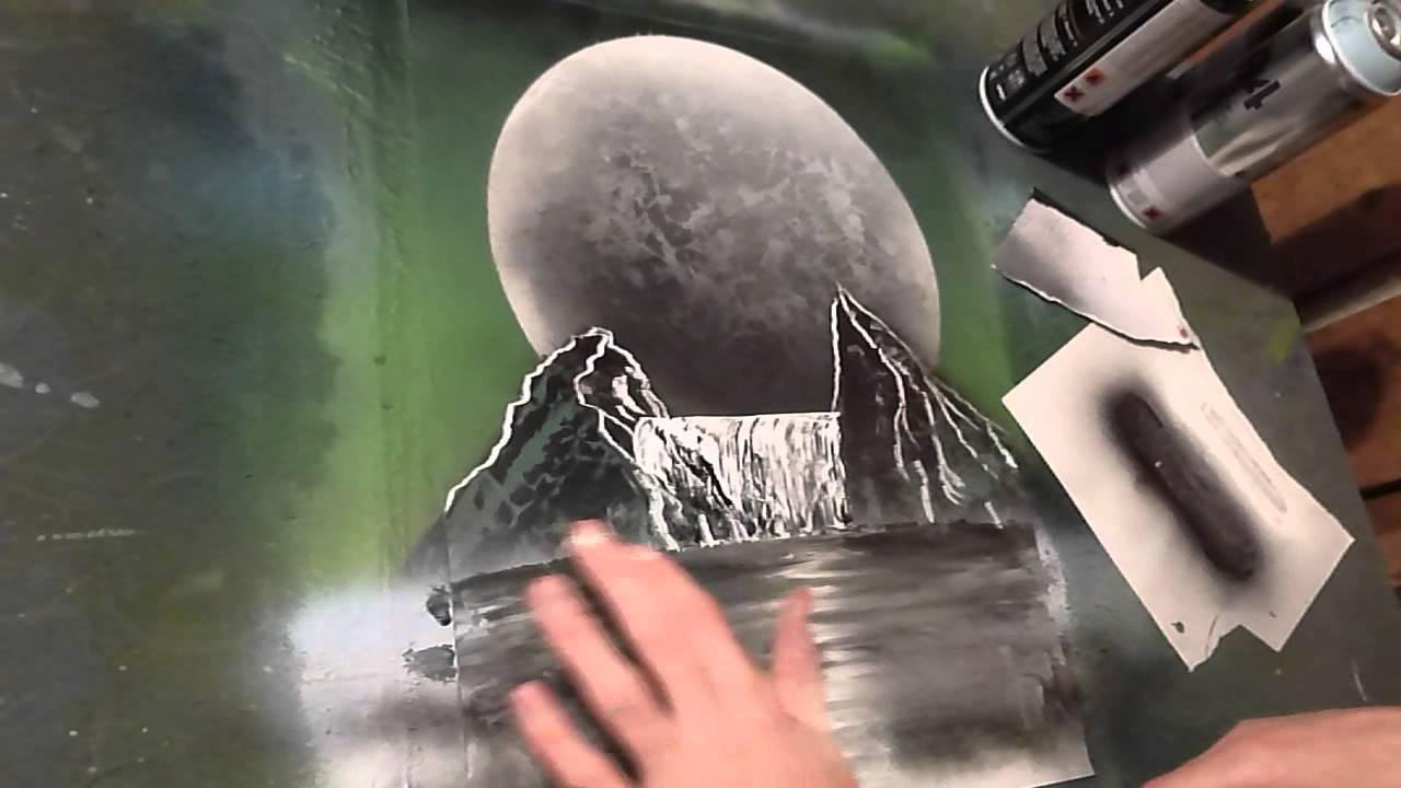 Charmant [FR Tuto Peinture] Realiser Un Paysage A La Bombe (en Details)   YouTube
