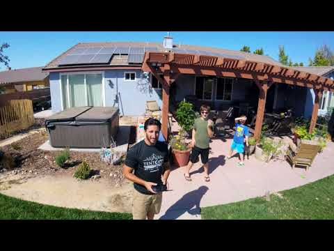 Flying the Potensic D85 FPV GPS Drone in my back yard (GoPro video)