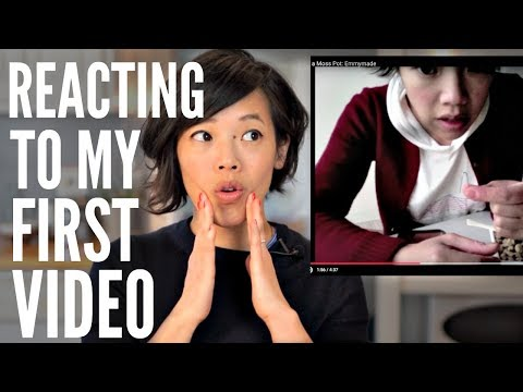 Emmy REACTS To Her 1st VIDEO | My 7-year YouTube ANNIVERSARY