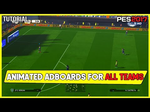 PES 2017 | Animated Adboards For All Teams , Leagues And Cups (Download And Install)