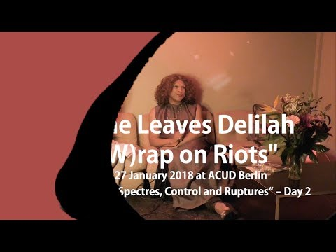 "ArtistTalk: Vaginal Davis, Moderator: Natasha Ginwala ""No One Leaves Delilah-A (W)rap on Riots"""