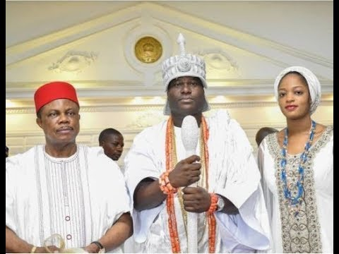 Ooni of Ife attends his wife, Olori Prophetess Naomi's church,As They Step In Together Majestically
