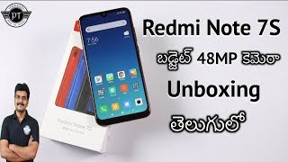 Redmi Note 7S Unboxing & initial impressions ll in Telugu ll