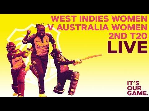 🔴LIVE West Indies Women vs Australia Women | 2nd T20I 2019