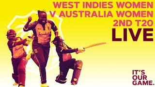🔴LIVE West Indies Women vs Australia Women | 2nd T20I 2019