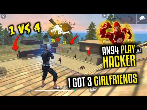My 3 GirlFriends And AN94 Play Like Hacker All HeadShot - Garena Free Fire