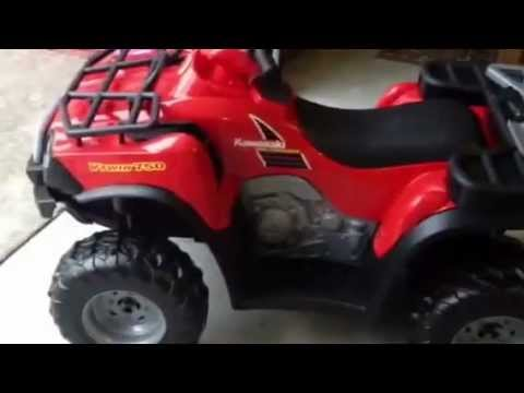 Power Wheels By Fischer Price Kawasaki Brute Force Kids 4-Wheeler Assembly