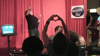 """RelyLocalAsheville.com Video: Kipper Schauer """"ANYTHING FOR LOVE"""" at Arcade Idol in Asheville"""