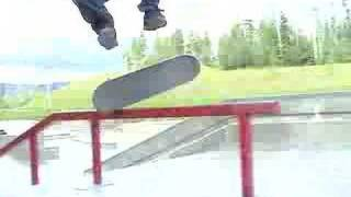 George Kickflipping Top of Red Rail Thumbnail