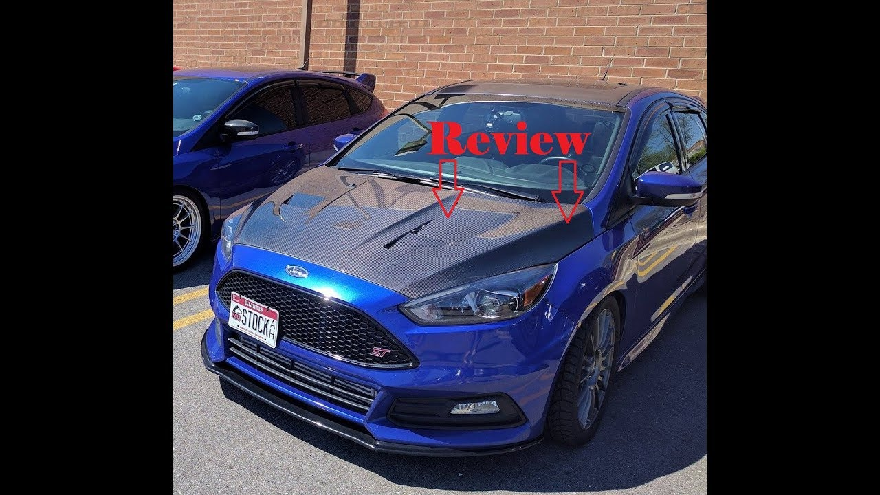 Focus St Rs Carbon Fiber Hood Review Youtube