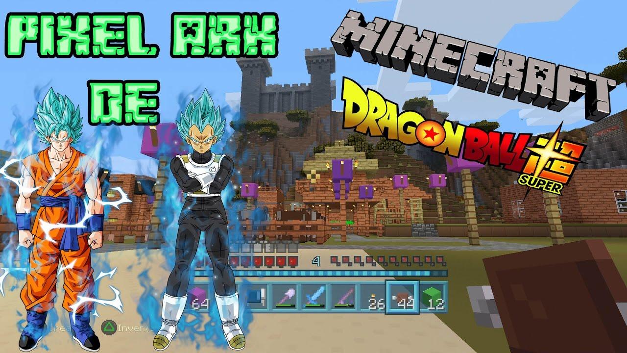 Minecraft Pixel Art Goku Y Vegeta Super Saiyan Blue Dragon Ball Super
