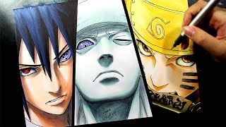 Speed Drawing - SASUKE | MADARA | NARUTO #NARUTUBRO