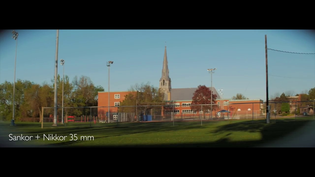Sankor 16C Anamorphic - Tests with different taking Lenses