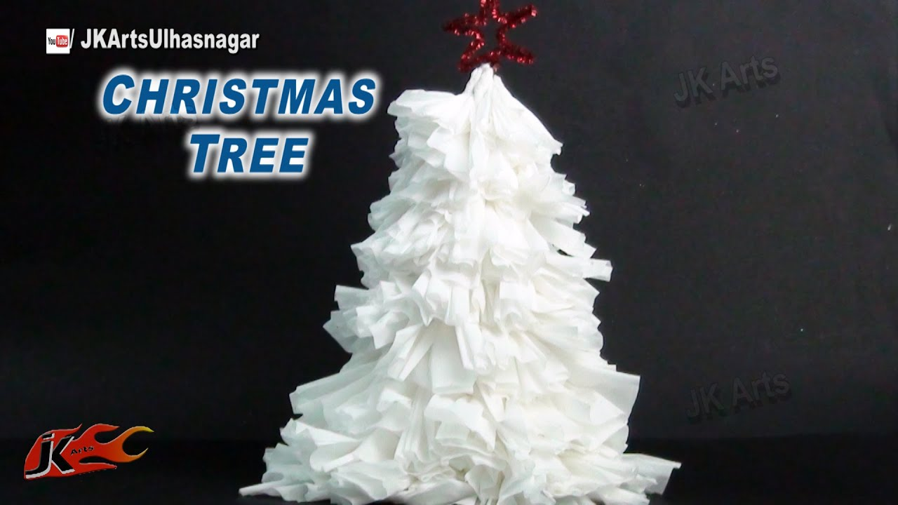 how to make tissue paper christmas tree diy christmas decorations jk arts 789 youtube