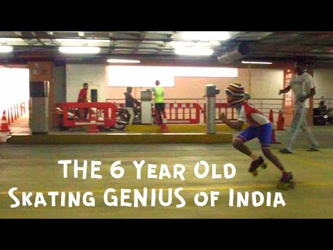 The 6 Year-Old Skating Genius of India appears on TV in Australia