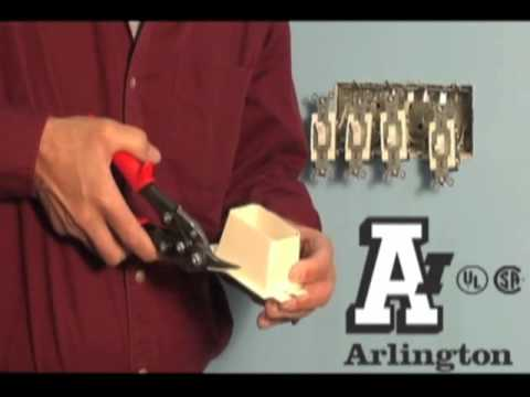 Arlington Bl1 How To Install Multiple Gang Electrical Box Extender