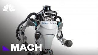 Boston Dynamic's Atlas Robot Goes Jogging   Mach   NBC News