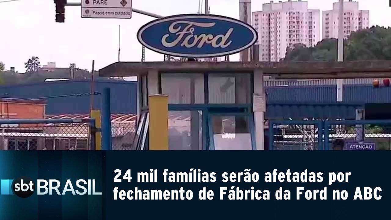 24 mil famílias serão afetadas por fechamento de Fábrica da Ford no ABC | SBT Brasil (20/02/19) - YouTube