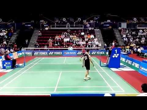 [HD] Lee Chong Wei (MAS) vs Sourabh Verma (IND) PERFECT ANGLE set 2/2 - MS R16 INDIA OPEN 2014