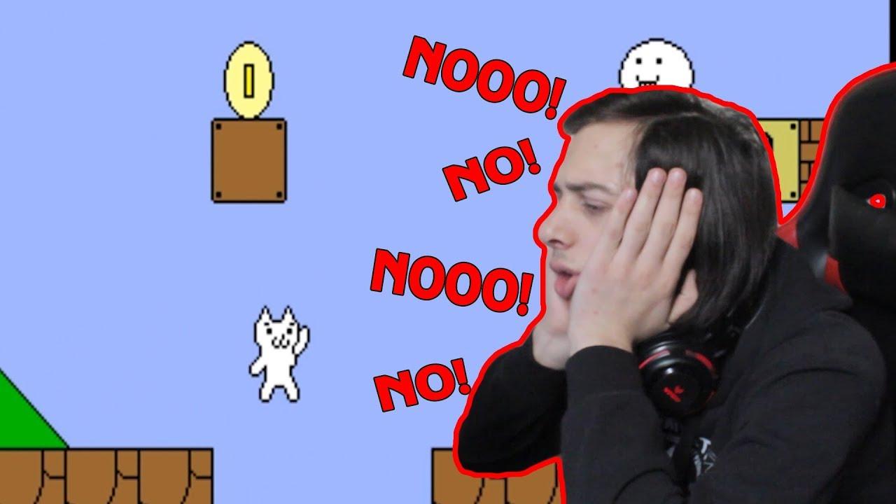 ყველაზე ნერვზე მოქმედი თამაში Cat Mario (Syobon Action)