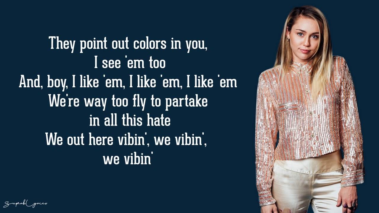 Miley Cyrus No Tears Left To Cry Ariana Grande Cover Lyrics