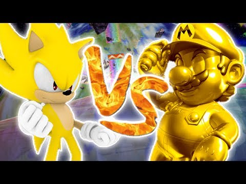 Super Smash Bros Brawl  Golden Mario vs Super Sonic  Vido Bonus
