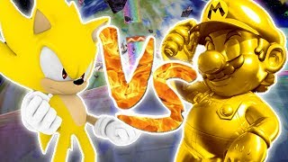 Repeat youtube video Super Smash Bros Brawl : Golden Mario vs Super Sonic | Vidéo Bonus