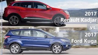 2017 Renault Kadjar vs 2017 Ford Kuga (technical comparison)