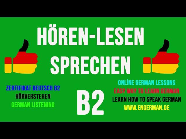 German Listening B2 Hörverstehen B2 4