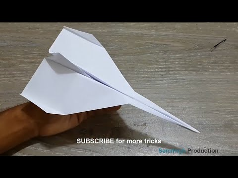 Make Amazing airplane - World best paper airplane for kids