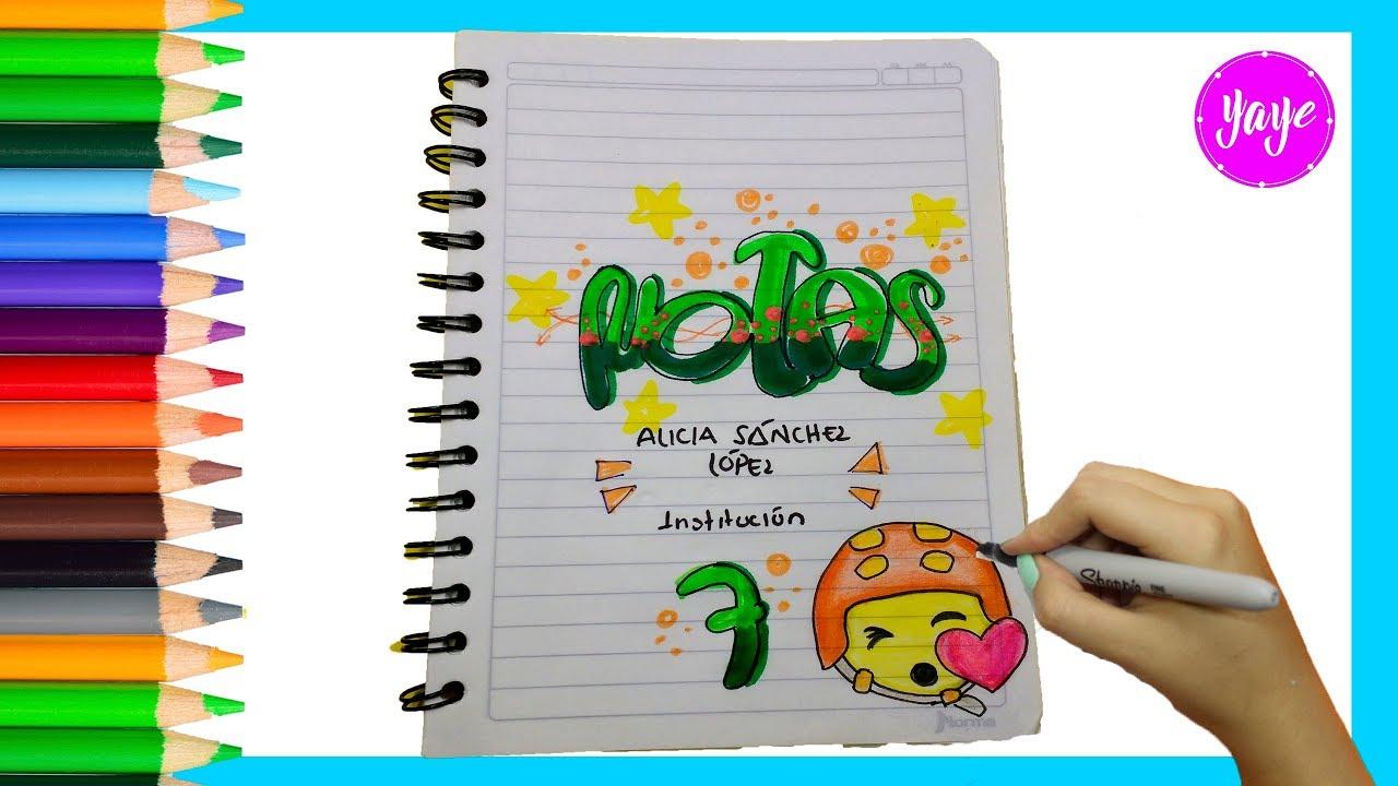 IDEAS PARA MARCAR CUADERNOS Cómo marcar cuadernos de notas