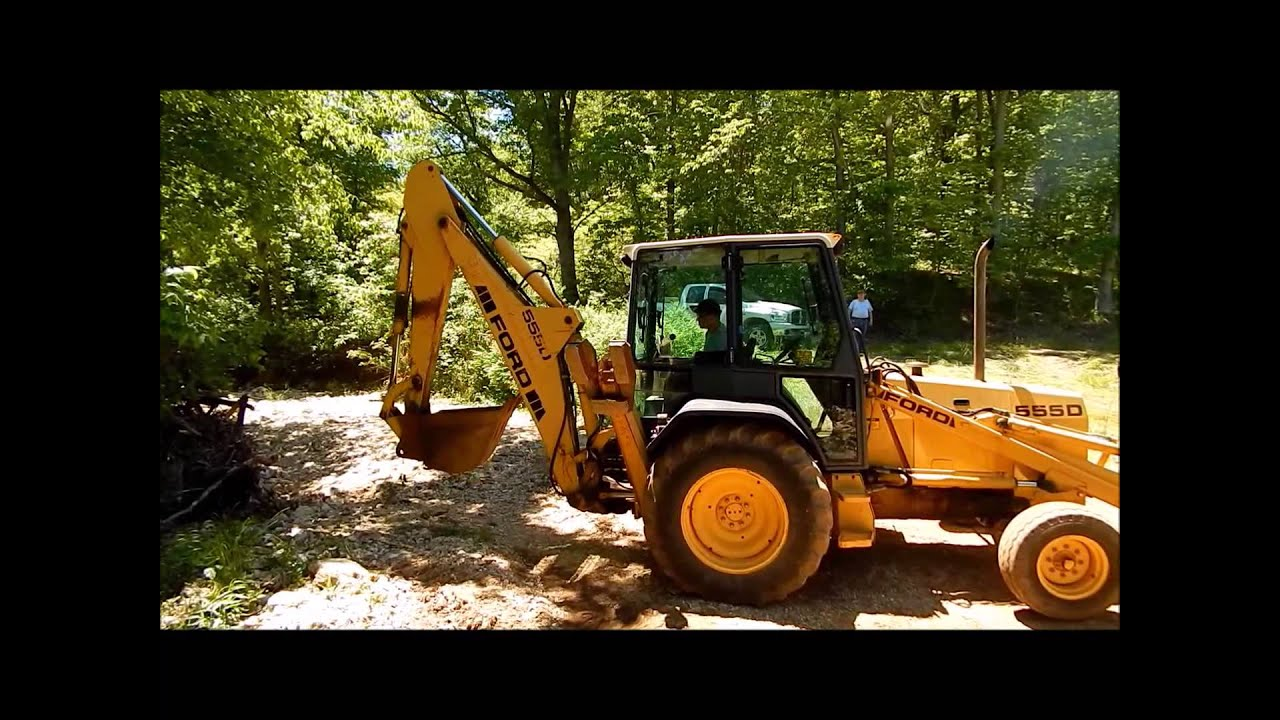 small resolution of 1995 ford 555d backhoe demo