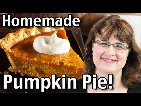 Homemade Pumpkin Pie - How To Make Pumpkin Pie From Scratch!