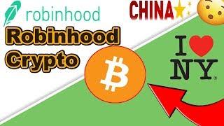 Robinhood Crypto Launch In New York, Bitcoin in China Legal Again, Buying Crypto on Robinhood in NY!