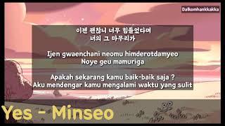 Yes - Minseo (Yoon Jong Shin) /Lirik/Hangul/Terjemahan Indonesia