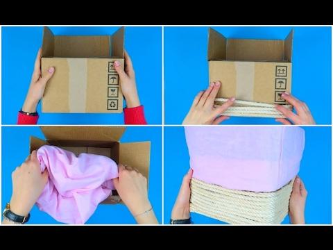 Come trasformare una vecchia scatola in modo utile e veloce youtube - Come rivestire internamente un baule ...