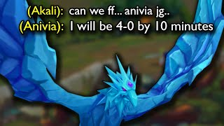 My Diamond Akali doubted my ANIVIA JUNGLE but I SMURFED on the enemy Jungler.