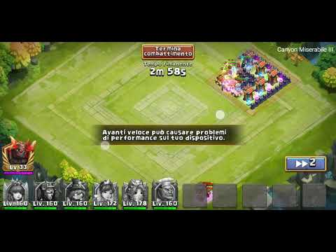 CASTLE CLASH WRETCHED GORGE 3 SOLO [NO EVOLVED HEROES]