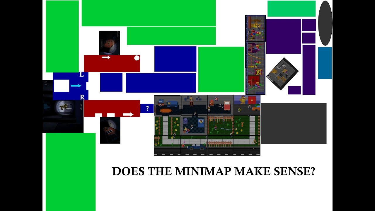 FNAF 4: Does the Game Map Make Any Sense?   Five Nights at Freddy's 4