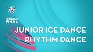 Ice Dance Rhythm Dance ISU Junior Grand Prix Final Torino 2019 JGPFigure