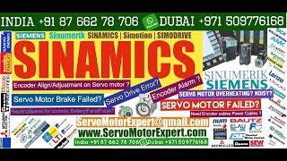 SIEMENS SINAMICS Why does servo motor vibrate? Voltage drops or poor wiring, Print Pack servo Motor