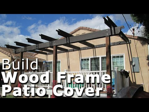 DIY wood roof framing for lean-to deck patio cover