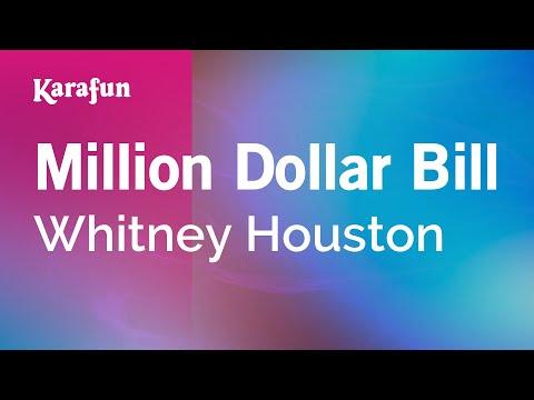 Million Dollar Bill - Whitney Houston | Karaoke Version | KaraFun