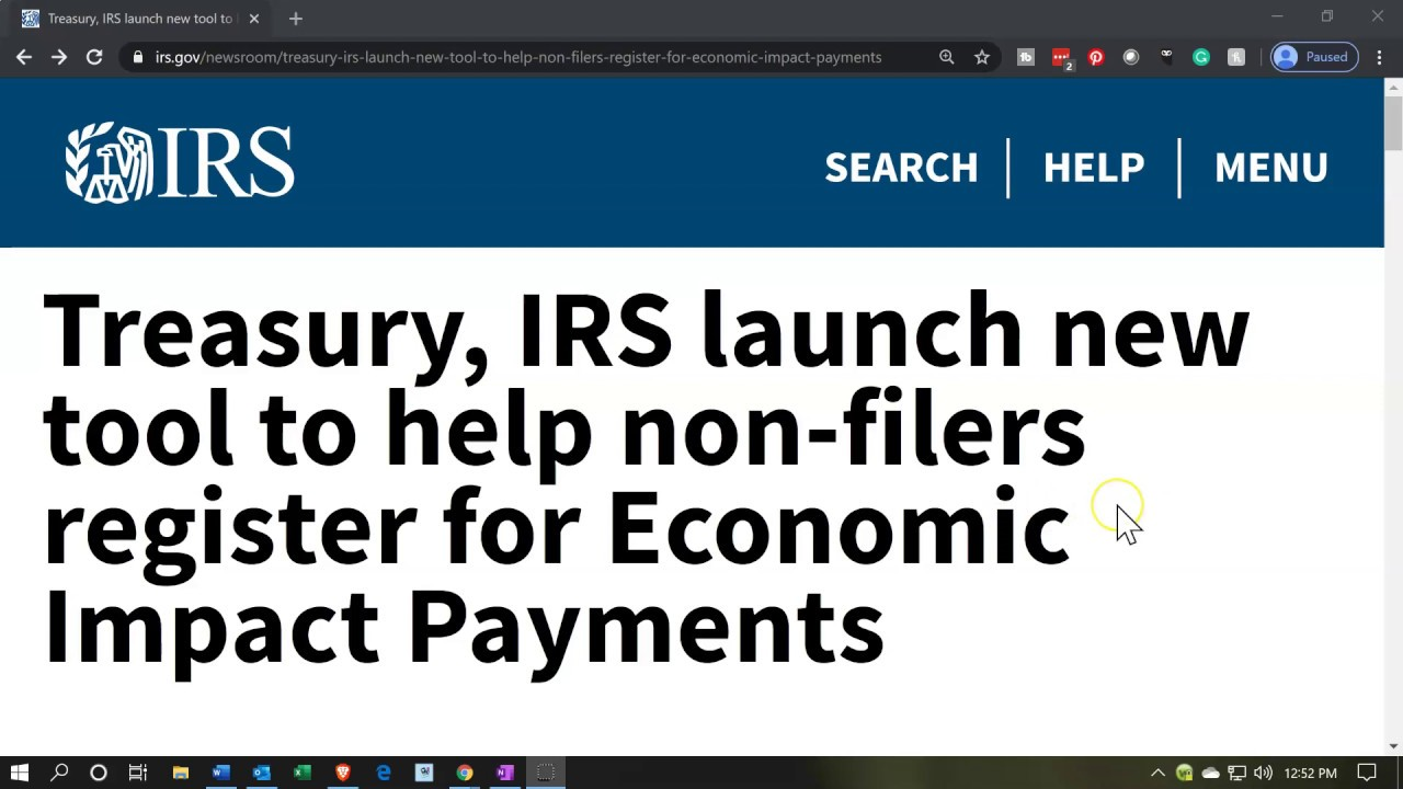 Treasury, IRS announces they will begin delivering EIP