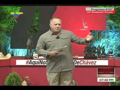 Diosdado Cabello: Los portugueses se comprometieron con los perniles pero los asustaron los gringos