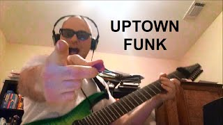 bruno mars/mark ronson -uptown funk- metal 8-string guitar cover